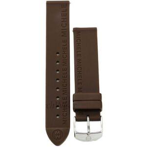 Michele 16mm Chocolate Brown Rubber Strap MS16AI040737 Deco 16 Lilou Cloette