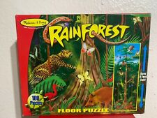 Melissa & Doug Rainforest Floor Puzzle 100 Piece Childs 4ft Tall Complete Animal