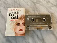 Madonna Who's That Girl Motion Picture Soundtrack CASSETTE Tape 1987 Sire RARE!