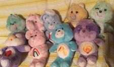 "Lot of 9 Vintage Kenner Care Bears 13"" Plush lot Cousins Elephant Penguin Bunny"