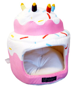 NANDOG, NEW Pink Birthday Cake w/Sprinkles Micro-Plush Cat/Small Dog Bed