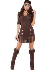 Sexy Native Indian Princess Wild West Cowboys Halloween Costume S