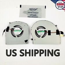 New Cpu+Gpu Cooling Fan for Dell Alienware 17 R4 R5 P31E Alw17C Laptop 2Pcs Fans