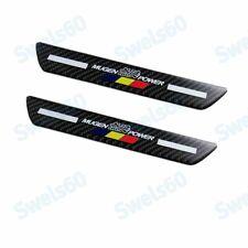 Mugen Carbon Fiber Car Rear Door Welcome Plate Sill Scuff Cover Decal Sticker X2