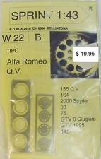 1:43 SPRINT43 W22B Alfa Romeo Q.V. Pneu Reifen Tire Felge Wheel Set aluminum