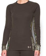 UnderArmour Women's ColdGear ScentControl Extreme Base Long Sleeve Top -Brown- S