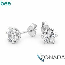 Classic Simulated Diamond 925 Sterling Silver Studs Earrings 34732/*