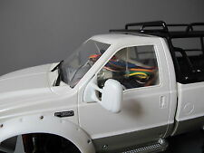 Pair White Rubber Flexible Side Mirror Tamiya RC 1/10 Juggernaut 1 2 Ford F-350