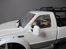 Pair White Rubber Flexible Side Mirror Tamiya RC 1/10 Juggernaut 1 2 Ford F-350