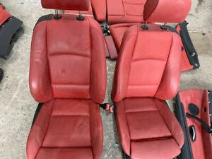 BMW 3 SERIES E92 2007-2013 HEATED RED LEATHER INTERIOR