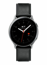 Samsung Galaxy Watch Active 2 40mm Caja de acero inoxidable con Correa de piel en negro (Bluetooth)