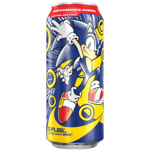 GFUEL SONIC'S THE HEDGEHOG PEACH RINGS CAN G FUEL LIMITED EDITION ENERGY DRINK