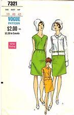 Vintage 1970s Vogue Sewing Pattern Womens DRESS JACKET SUIT 7321 Sz 18 B40 UNCUT