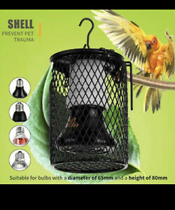 Chick brooder lamps, cage & Ceramic bulb set 100 Watts suits reptiles, heat lamp