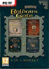 baldurs gate  4 games & icewind dale 3 games    new&sealed