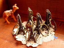 Eiffel Tower Car Keychain Charm Pendant Key Ring Gift -