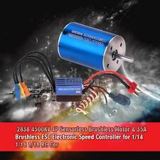 2838 4500KV 4P Sensorless Brushless Motor & 35A Brushless ESC for 1/14 Car G0X7
