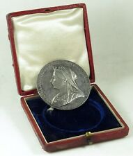 1897 Queen Victoria Diamond Jubilee Medal England UK Great Britain 56 mm Silver