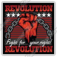 "Fight For Your Right Revolution Rebel Chain Car Bumper Vinyl Sticker Decal 4.6"""