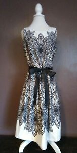 SC@BHS Stunning Black/Cream Dress UK10 Net Underskirt Party Wedding Evening Prom
