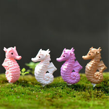 4pcs Miniature Dollhouse Bonsai Fairy Garden Landscape Lovely Seahorse Decor LY