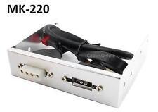 "3.5"" Desktop Front Bay 7-Pin SATA and 4-Pin Molex Power Adapter Bracket - MK-220"