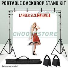 10Ft Adjustable Photography Background Support Stand Studio Backdrop Crossbar-Us