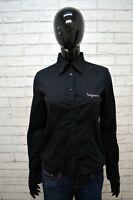 Camicia Nera Donna ICEBERG Taglia 42 S Maglia Manica Lunga Shirt Woman
