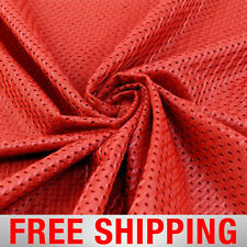 """Red Football Mesh Jersey Fabric - 60"""" Wide - Style# 734706 - Free Shipping"""