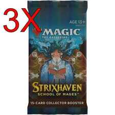 MTG: Strixhaven School of Mages - Collector Booster Pack x3