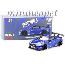 MINI GT MGT00034 LIBERTY WALK LB WORKS NISMO NISSAN SKYLINE GT-R R35 1/64 BLUE