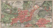 POTSDAM town city stadtplan & environs/umgebung. Nowawes. Brandenburg 1910 map