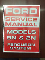 Ford 9N 2N Tractor Service Manual Ferguson System Engine Electrical Transmission