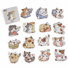 45Pcs Japanese Cute Cat Stickers Stationery DIY Scrapbooking Diary Decoration