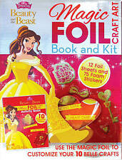 Disney Princess Beauty and the Beast Magic Foil Craft Art by Parragon Books...