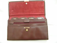 Personalised Travel Wallet Leather In Burgundy. Printed With Upto 3 Letters