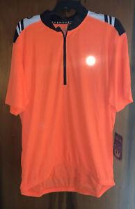 NWT Canari 1/2 Zip Short Sleeve Mens Cycling Biking Bike Jersey. Sz 2XL & Orange