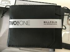 Geoffrey Beene Billfold with Weekend Wallet Two for One Genuine Leather New