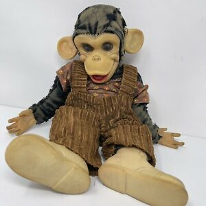 Vintage Rushton zip the monkey zippy rubber face doll AS IS well Loved