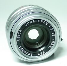Leica M Summicron 2/35 ASPH. E39 silver Objektiv  ff-shop24
