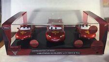 Disney Store Pixar Cars 2 Limited Edition Lightning McQueen Mia Tia Die Cast Set