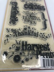 Harvest Expressions  Fall Clear Stamp Set Inkadinkado