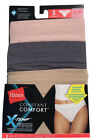 Hanes Women's Constant Comfort X-Temp Hi-Cut 3-Pack Women's Lignerie H1945T NEW