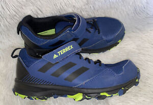 Adidas Outdoor Terrex Kids Hiking Shoes Blue Green Youth Size 2.5 w Strap