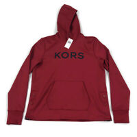 Michael Kors Mens Hoodie Side Snap Red Variety Sizes
