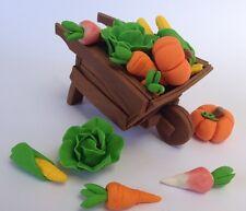 edible WHEELBARROW VEGETABLE PETER RABBIT INSPIRED cake topper DECORATION garden