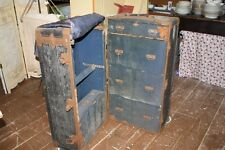 Vintage Trunk Steamer Belber Travelling Goods Trunk Drawers Wood Hangers Bellhop