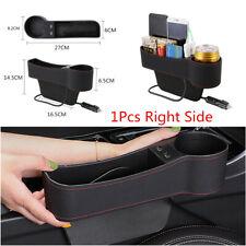 1x Right Side Car Seat Slit Pocket Storage Organizer Box w/2USB Port Accessories