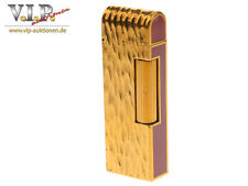 DUNHILL ROLLAGAS BRIQUET GAS FEUERZEUG GOLD & CHINESE LACQUER LIGHTER ACCENDINO