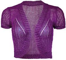 Crochet Crop Short Sleeve Bolero Shrug